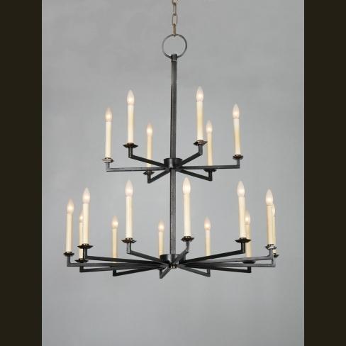 2-tier Starlite Artisan Steel chandelier - Model No. C2456H & 2-tier Starlite Artisan Steel chandelier - Model No. C2456H   Copper ...