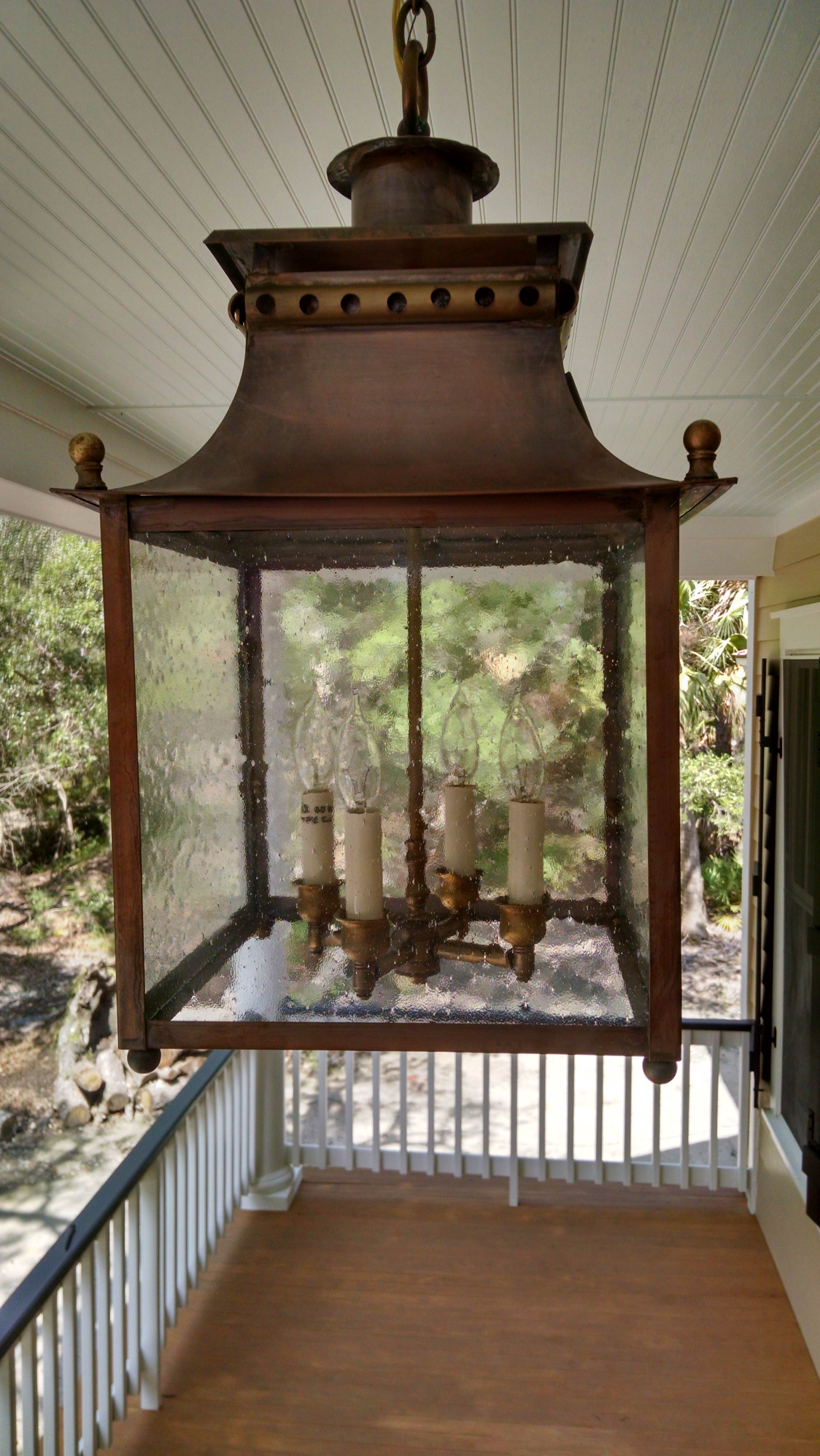 Battery Park Hanging Lantern - Model No. H3585CL | Copper Lantern ...